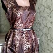 Собираем лоты!! Красивое платье с принятом, размер 14 Длина 80 Пог 45 Пот 40  Поб 55