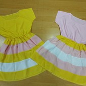 Шикарные легенькие платья для девочки! Смотрите замеры! В лоте розовый!!