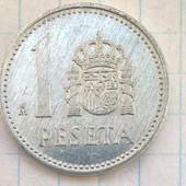 Монета Испании 1 песета 1984