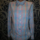 Стоп !!!стильная качественная рубашка р.48 (идеального состояния)