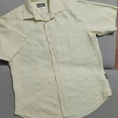 Рубашка Ted Baker, 100% лён, в идеальном состоянии, ПОГ 59 см