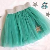 Последняя!! Новая обалденная новогодняя юбка на рост 104-116
