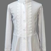 Новая, шикарная школьная блуза на рост 146 (42)