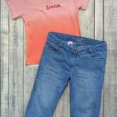 Фирменный комплект на девочку 11-13 лет,футболка Uni Cat и бриджи С&А