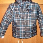 Куртка, деми, внутри флис, размер 8-9 лет 134 см. Game field 62. состояние отличное