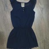 Дорогое шикарное шифоновое платье-44-46р. Как новое.