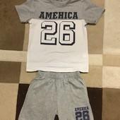 Комплект футболка + шорты 128 см Grace