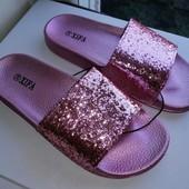 Девочки, красивые шлепки на море!!! 37,38,39р розово-перламутровые