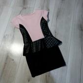 Модненькре платье с баской,на рост 104-110см.