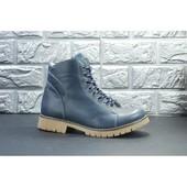 Зимние женские кожаные ботинки Viva (37 размер)
