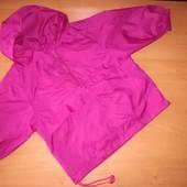 Ветровка для девочки на молнии с капюшоном. На 18-24месяца