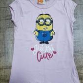 ☆ Яркая футболка от Lidl розовая 122 - 128  Отличное качество. В упаковке с бирочкой