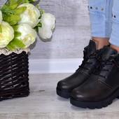 Зимние ботинки Viva с мехом ,Brown (39)