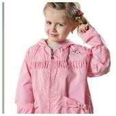 Новая! Красивая ветровка с капюшоном для девочки в двух цветах- р. 110,116,122,128