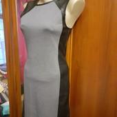 Платье Divided от H&M, пр-во Камбоджа, разм. 38 евро. сост. - как новое! вставки иск. кожи.