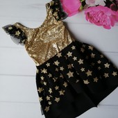 Нарядное платье на праздник на 5-6 лет