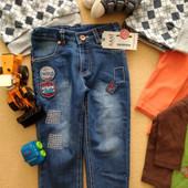 Новые классные джинсы Sani +замеры 9 мес.