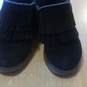 Замшевые ботинки, теплые