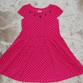 Шикарное платье F&F на девочку 4-6 лет