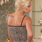 Женская пижама, леопардовый комплект майка и трусики