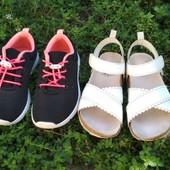 Кроссовки и босоножки H&M одним лотом б.у. на ножку 16 см для девочки