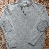 Теплый полушерстяной свитер Next