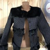 Куртка с натуральным мехом кролика!!размер ХХXL наш 46-48, смотрите замеры в лоте