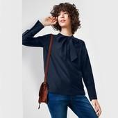 Эффектная блуза с бантом, шелк и хлопок Tchibo(Германия), размер евро 38 (наш 44)