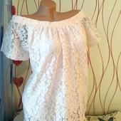 Новая красивенная блуза Peacocks Пудра. Полностью кружевная, на Лоты комбинирую бесплатно