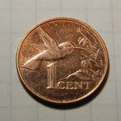 Монета. Тринидад и Тобаго. 1 цент 2005 года. Фауна. Птица. Колибри.