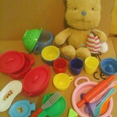 Детская кухон.утварь + мягкий музыкальный вини-пух с пчелой