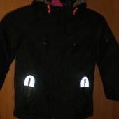 Куртка, еврозима, внутри шерпа, р. 5-6 лет 110-116 см, TU. состояние отличное.