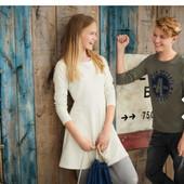 Модное хлопковое платье Pepperts в ромбик на рост 158/164 12-14 лет двухнитка Германия