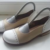 Шкіряні туфлі Hand made(25см устилка)✔