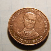 Монета. Ямайка. 10 центов 1995 года. Портрет Пола Богля, национального героя.