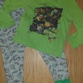 Пижама хлопок на мальчика 4-5лет замеры на фото
