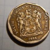 Монета. Южная Африка. 20 центов 1994 года. Флора. Цветы.