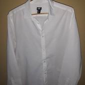 Фирменная белая рубашка H&M L