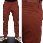 Стильныe, модныe стрейчевые брюки!!! с 29, 30, 31 рр! Модного кирпичного цвета!