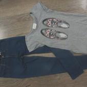 Skinny джинсы+футболка. S-ка.Гарн.стан.