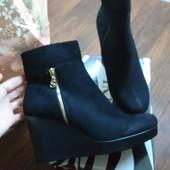 Женские ботинки на платформе. Р 40 (26 см).