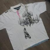 Фирменная катоновая тениска-пог-68см.Чудов стан.
