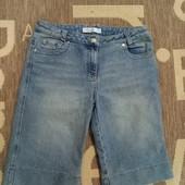 Качественные джинсовые бриджи. По бирке 12р.