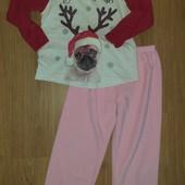 Пижама хлопок и флис 5-6лет замеры на фото