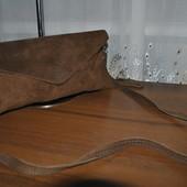 Натуральна шкіра замш!!! Стильний клатч-сумочка актуального кольору