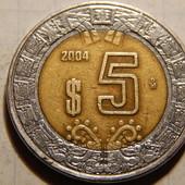 Монета. Мексика. 5 песо 2004 года. Биметалл.