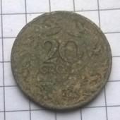 Монета Польши 20 грошей 1923