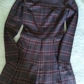 Теплое платье в клетку
