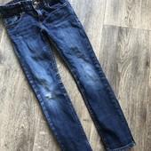 Модные фирменные джинсы H&M на 6-7 лет