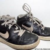 Тёплые кожанные демисезонные оригинал кроссовки Найк Nike 34р